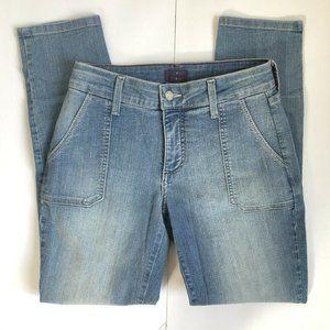 NYDJ Womens Size 2P Cailey Blue Denim Legging Jean